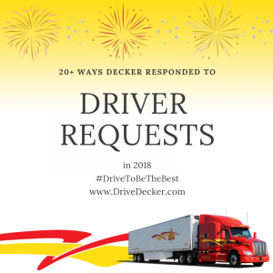 20+ Ways Decker Responded To Driver Requests In 2018