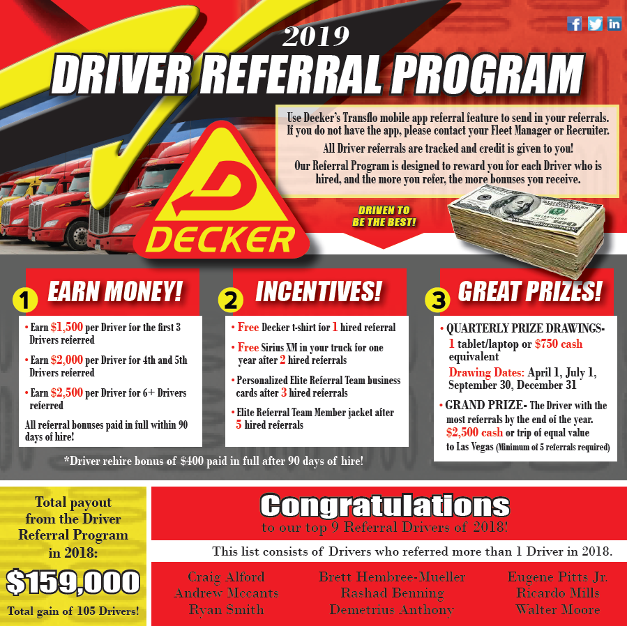 2019 Driver Referral Program