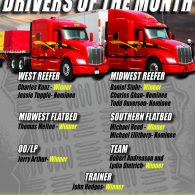 February Professional Drivers of the Month