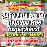 Inspection Bonuses 7-5-19 to 7-11-19