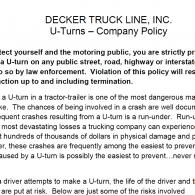 Decker U-Turn Policy (12/26/19)