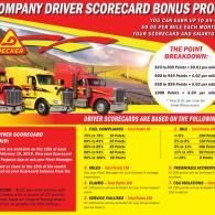Company Driver Scorecard Bonus Program (1/3/2020)