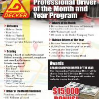 2020 Professional Driver of the Month and  Year Program (2/4/2020)