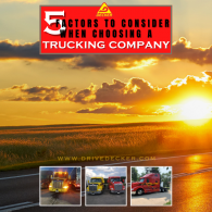 5 Factors to Consider When Deciding What Trucking Company to Work for