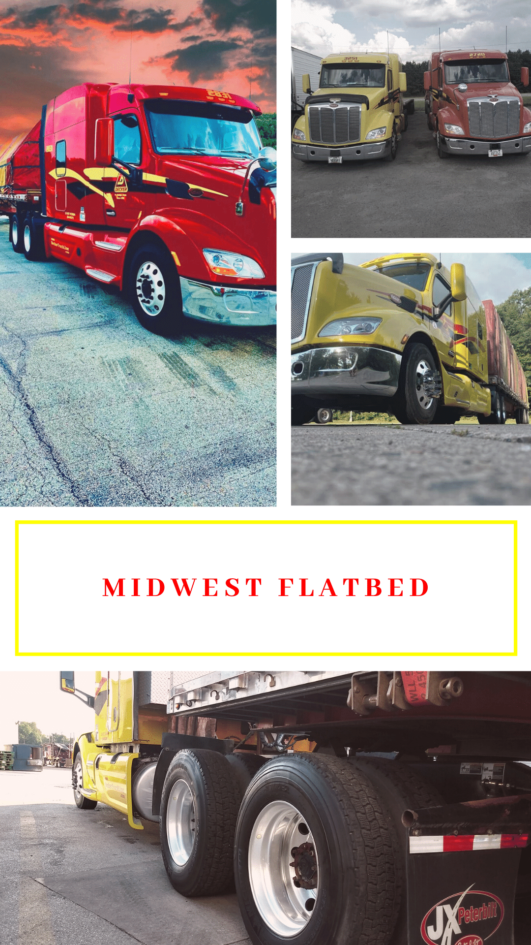 Decker is now offering $1450 ($1700 in some areas) a week with weekly home time in our Midwest Guaranteed Pay Flatbed division.