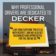 Drivers' Reviews for Decker Truck Line Prove Decker is a Great Company to Work for