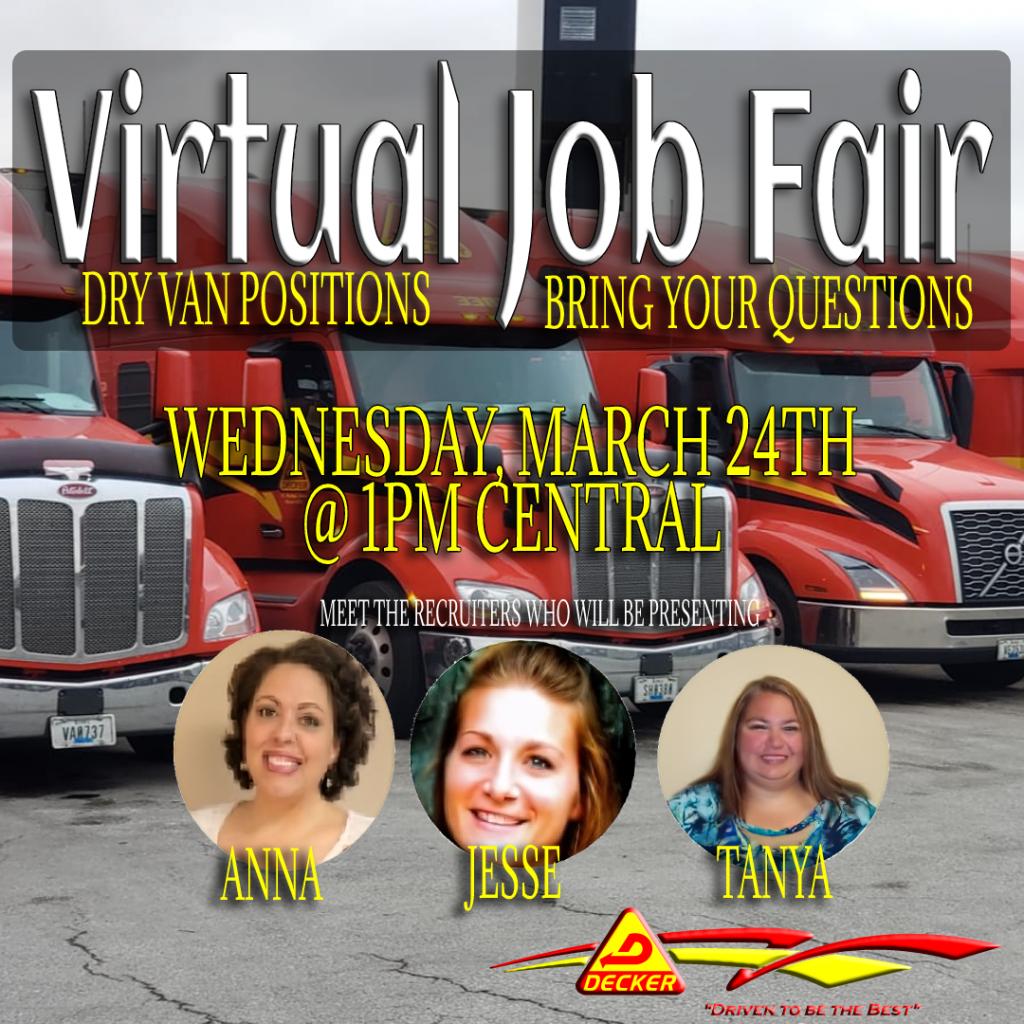 Can you make it? Dry Van Virtual Career Fair